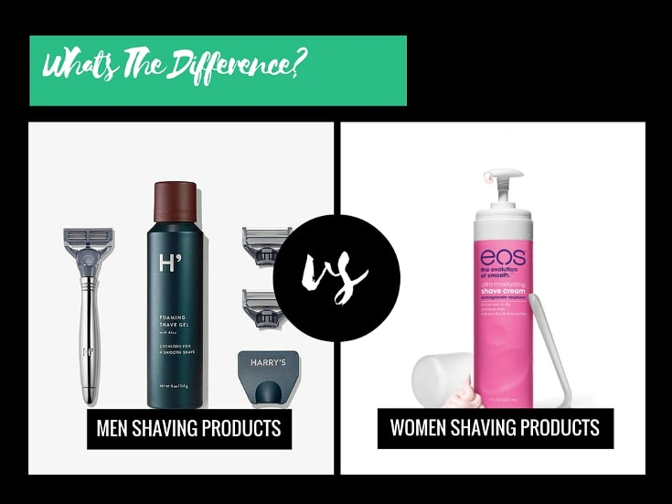 different between men and women shaving products