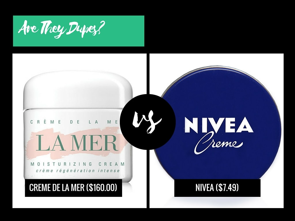 Are They Dupes?: Creme De La Mer VS Nivea Creme