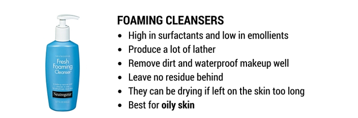 foaming cleansers: best cleansers for oily skin