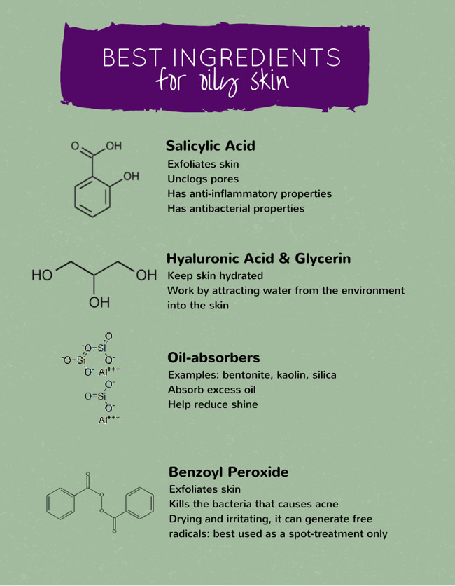 What Are The Best Ingredients For Oily Skin?
