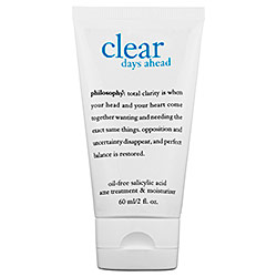 philosophy clear days ahead toner moisturizer