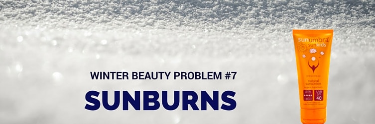 winter beauty problem sunburns