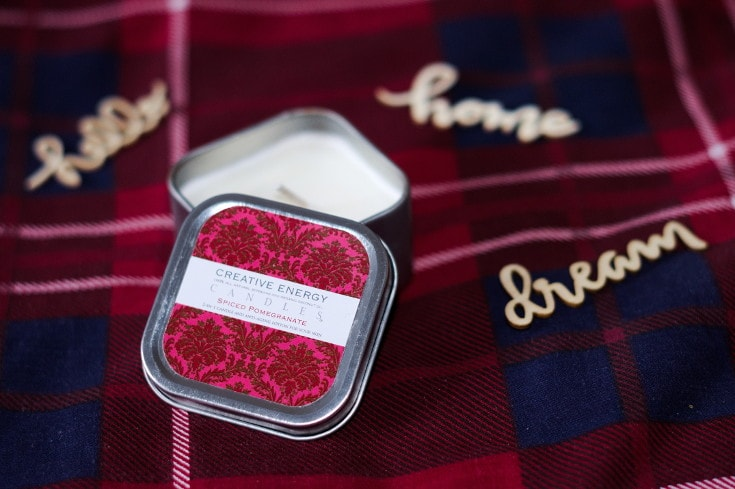 creative energy candles spiced pomegranate