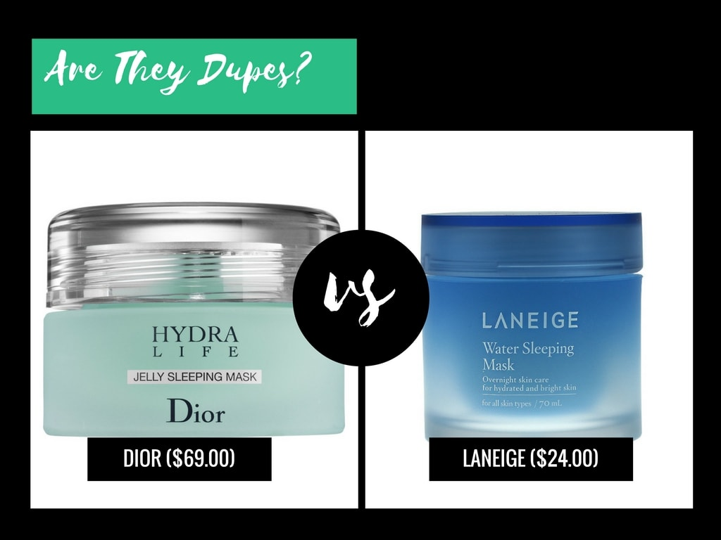 Are They Dupes?: Dior Hydra Life Jelly Sleeping Mask VS Laneige Water Sleeping Mask