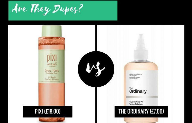 Are They Dupes?: Pixi Glow VS The Ordinary Glycolic Acid 7% Toning Solution