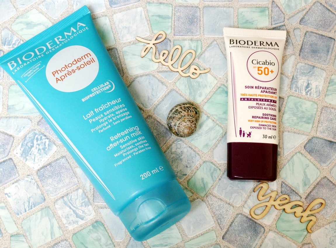 bioderma cicabio spf 50 and photoderm after sun milk
